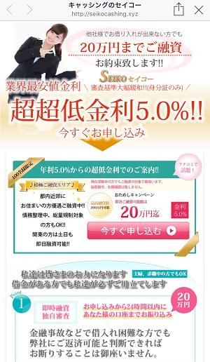 SEIKOセイコーの闇金融サイト